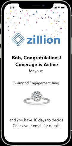 Zillion 1-Click Jewelry Insurance Phone